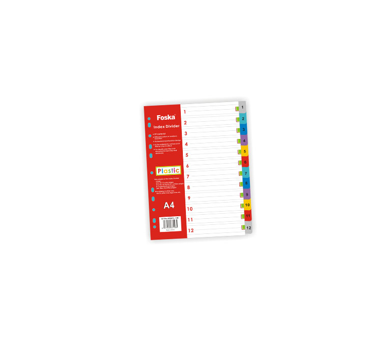 Ndarese dosjesh plastike me 12 ngjyra