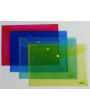 Dosje plastike transparente A4 me ngjyra me buton